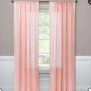 "Light Filtering Curtain Panel Blush 63""x54"" 2 pack"